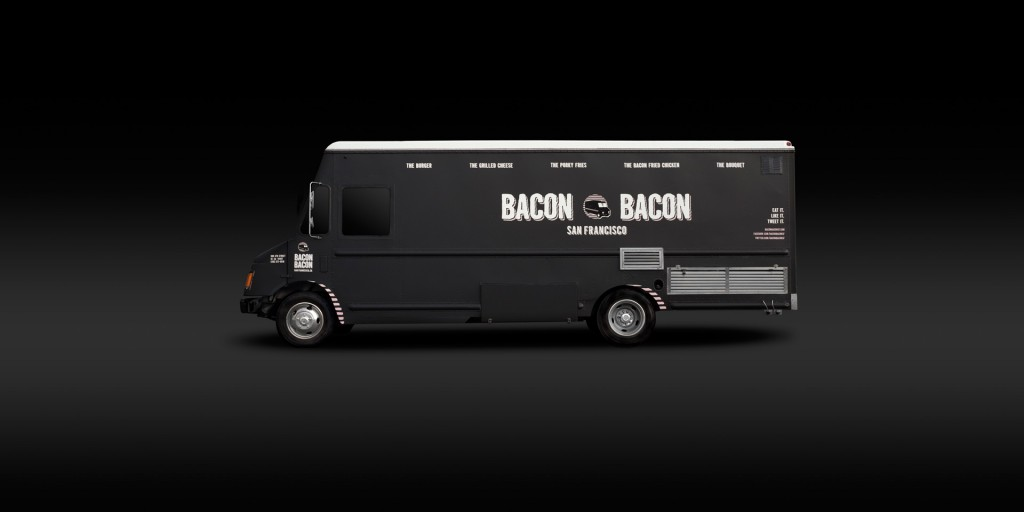 Bacon bacon food truck adam j aaron advertising and for How to design a food truck