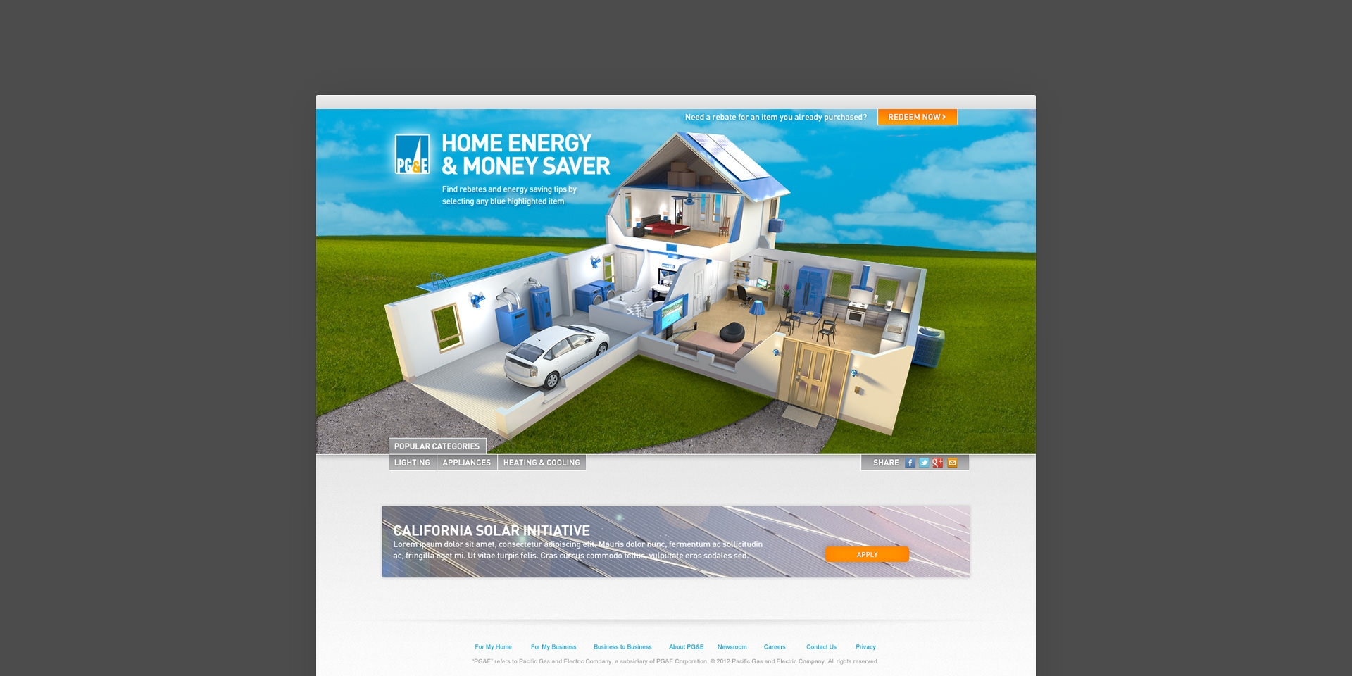The PGu0026E Home Money Saver Was Designed To Inform Customers Ways They Can  Find Rebates And Energy Savings Tips Around Their Home.